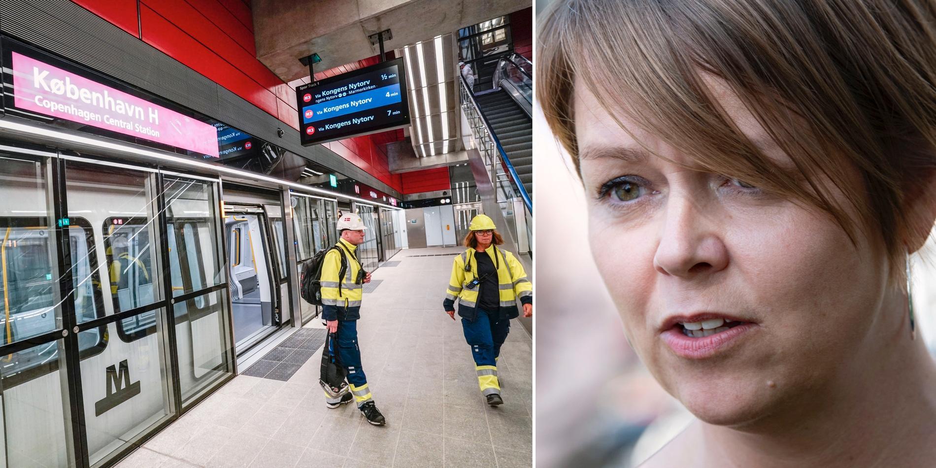 Invigningen av Köpenhamns nya metrolinje/Katrin Stjernfeldt Jammeh.