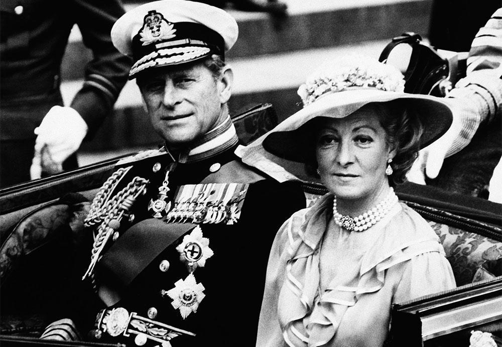 Frances Shand Kydd och prins Philip.
