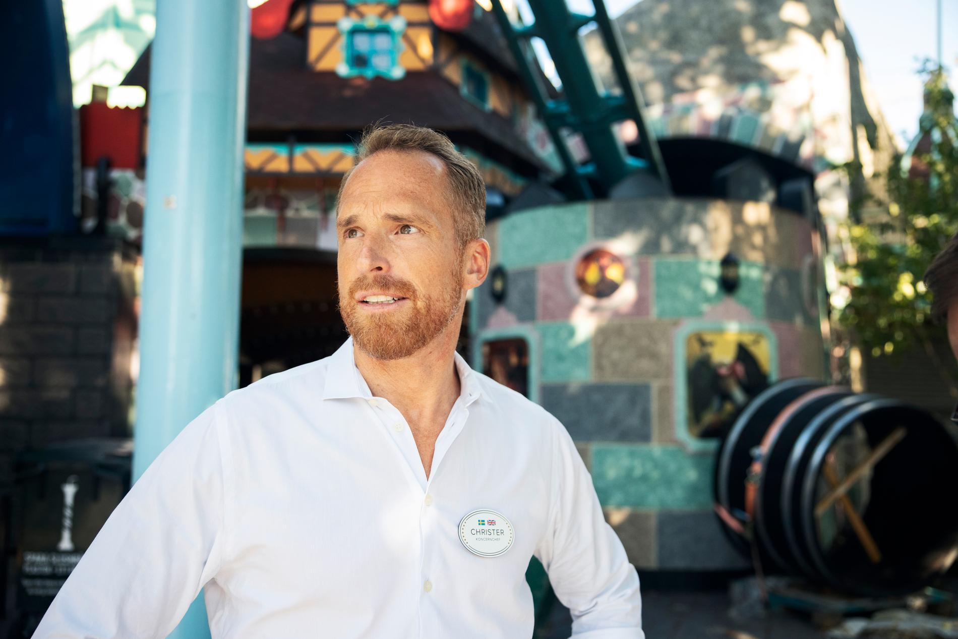 Christer Fogelmarck, vd på Parks and Resorts som äger Gröna Lund, är glad över att nöjesparken åter är öppen igen.