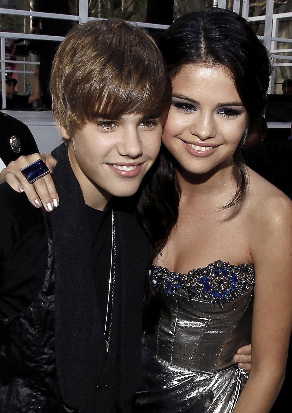 Justin Bieber och Selena Gomez.