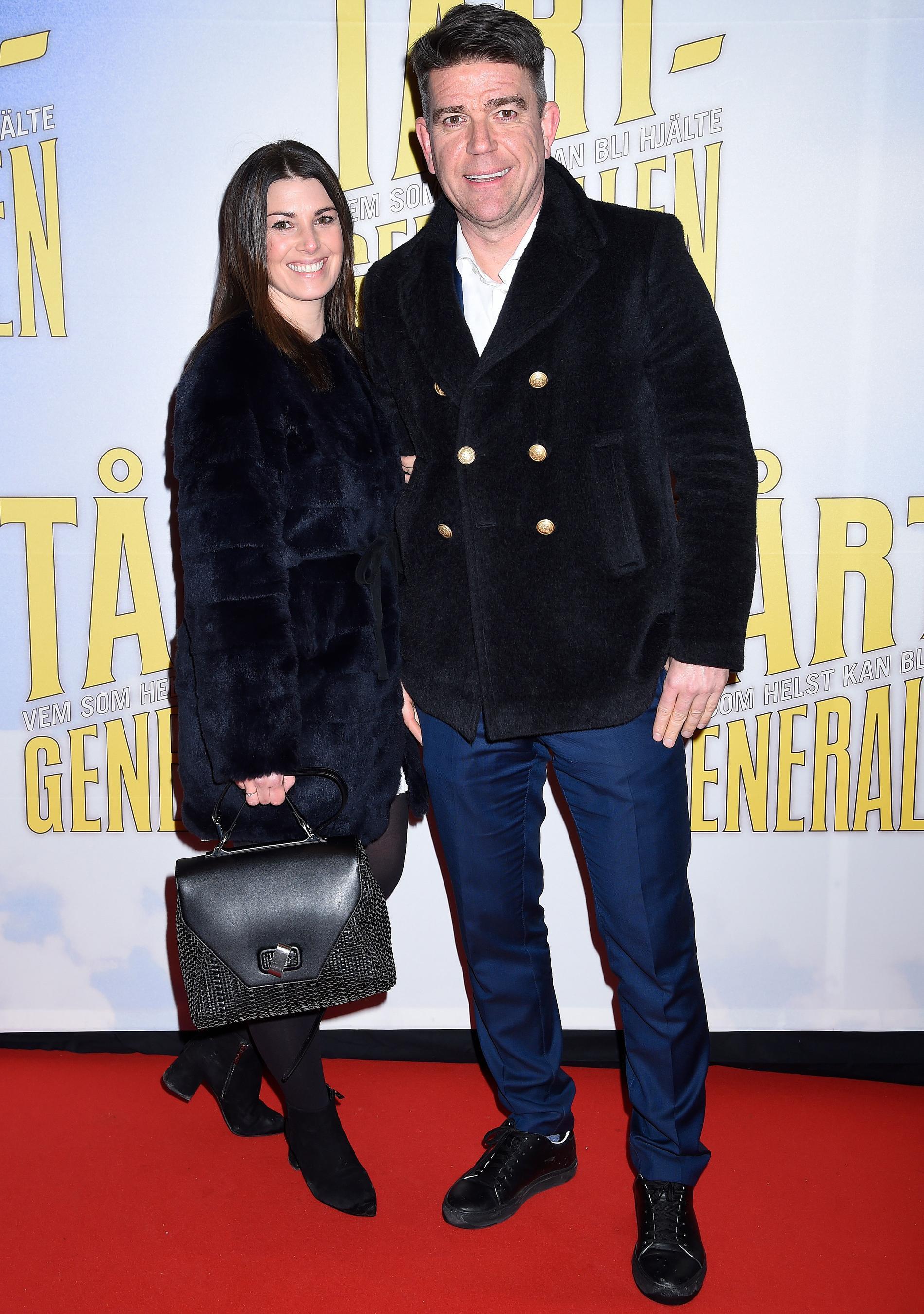 Hannah Ekwall tillsammans med maken Patrick på filmpremiär 2018.