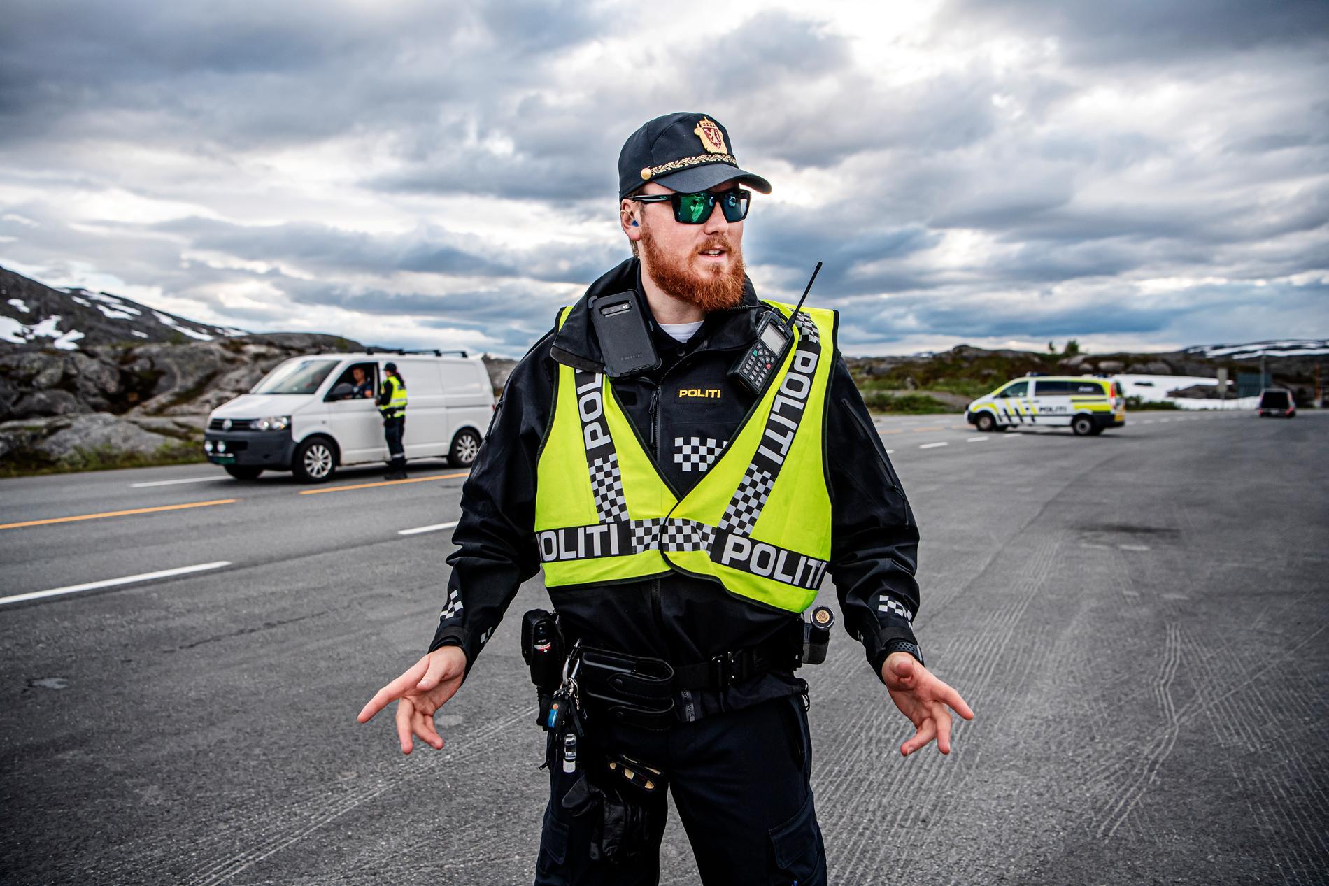 Den norska gränspolisen Martin Fintland märker ökat tryck på gränsen mellan Sverige och Norge.