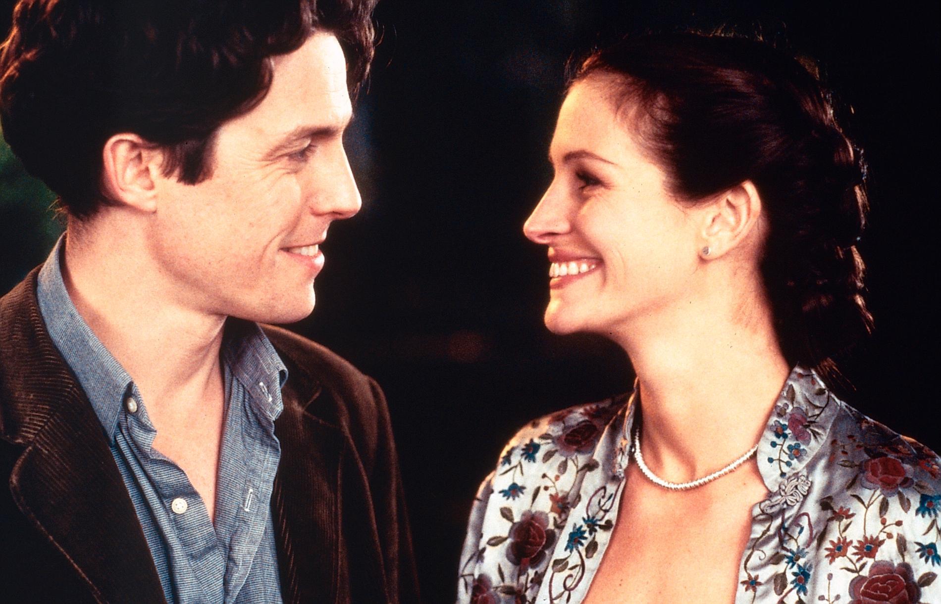 """""""Notting Hill"""" med Hugh Grant och Julia Roberts."""