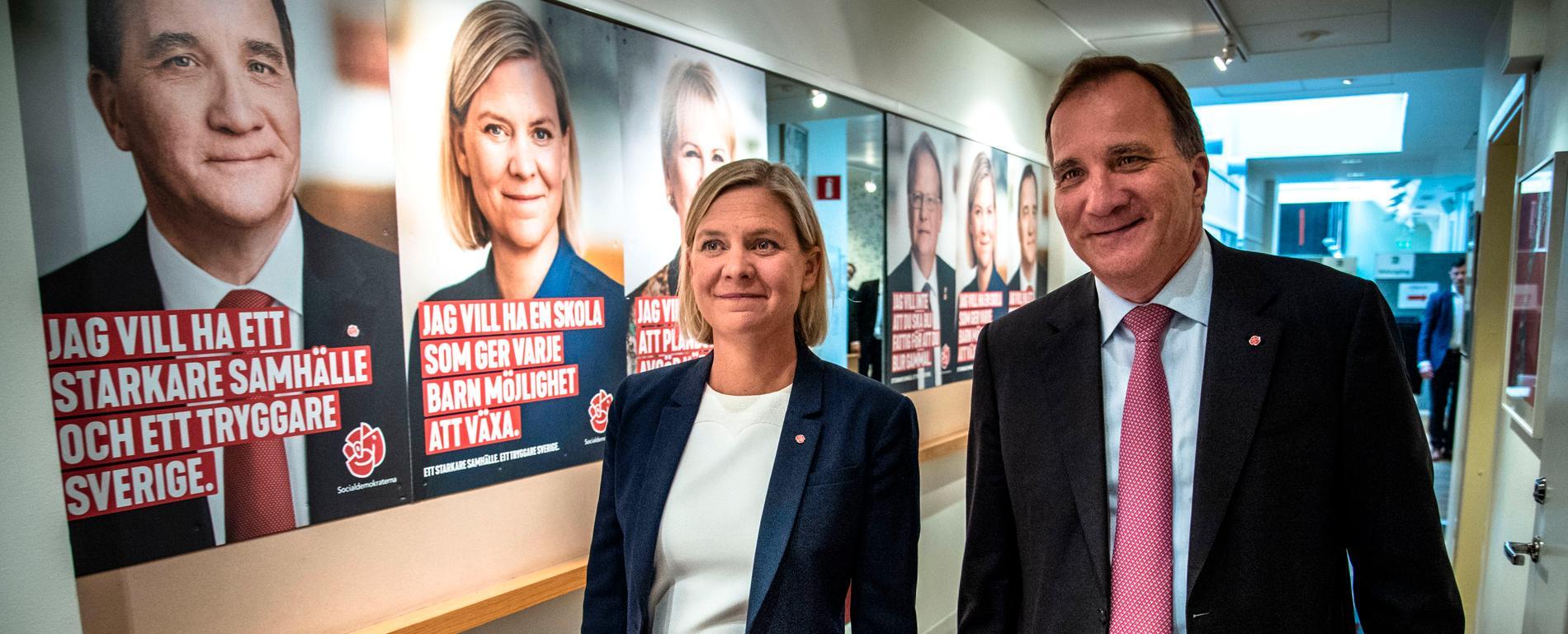Stefan Löfven och Magdalena Andersson ser ut att gå mot en andra regeringsperiod.