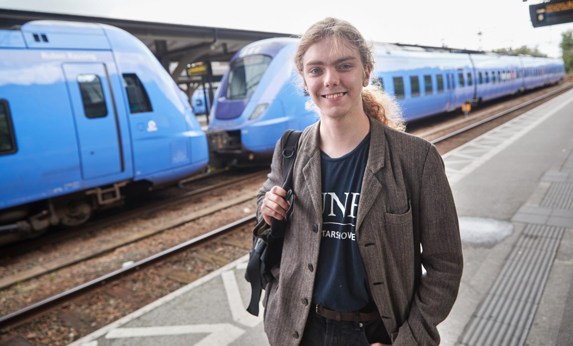 Hilding Frännhag, 19, vill inte kliva på tåg med för många personer.