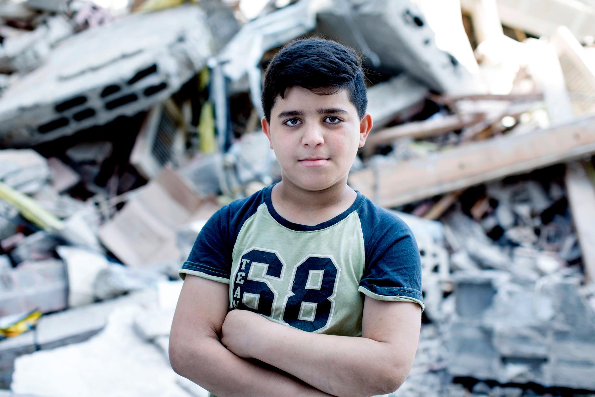 Matez Hemed, 10, förlorade fyra kompisar i bombattackerna.
