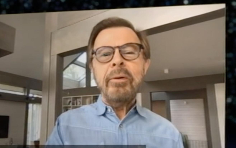 Björn Ulvaeus dök upp i rutan med en hälsning.