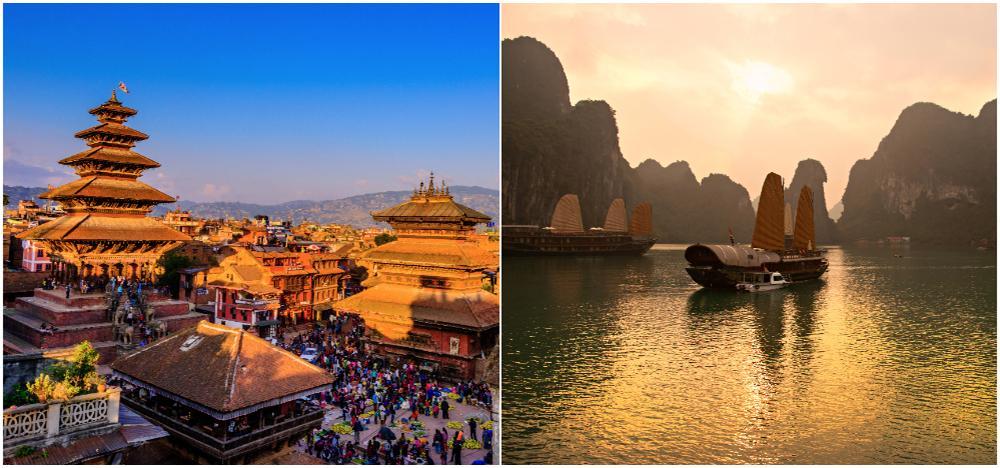 Nepal och Vietnam är världens just nu billigaste länder att semestra i.