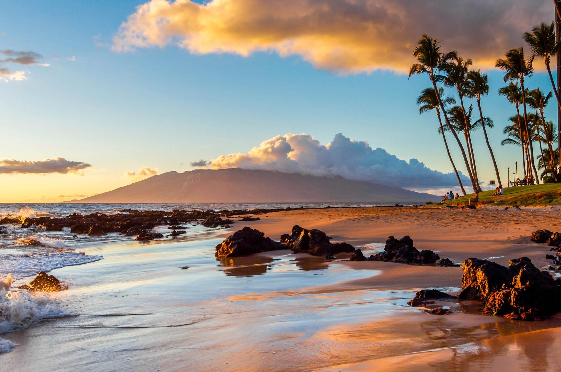 I havet utanför Maui kan du se valar.