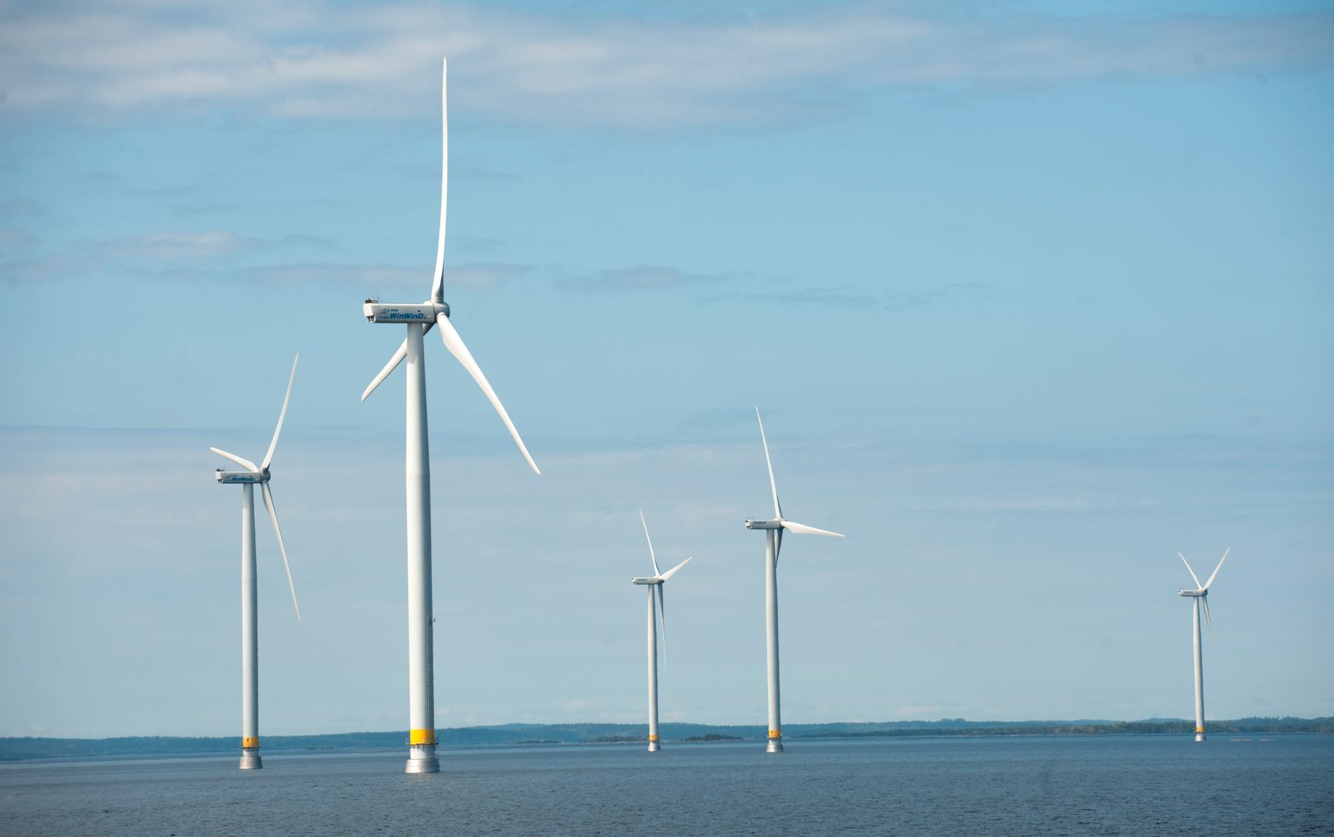 Försvaret och vindkraftsindustrin konkurrerar om samma områden i havet. Arkivbild.