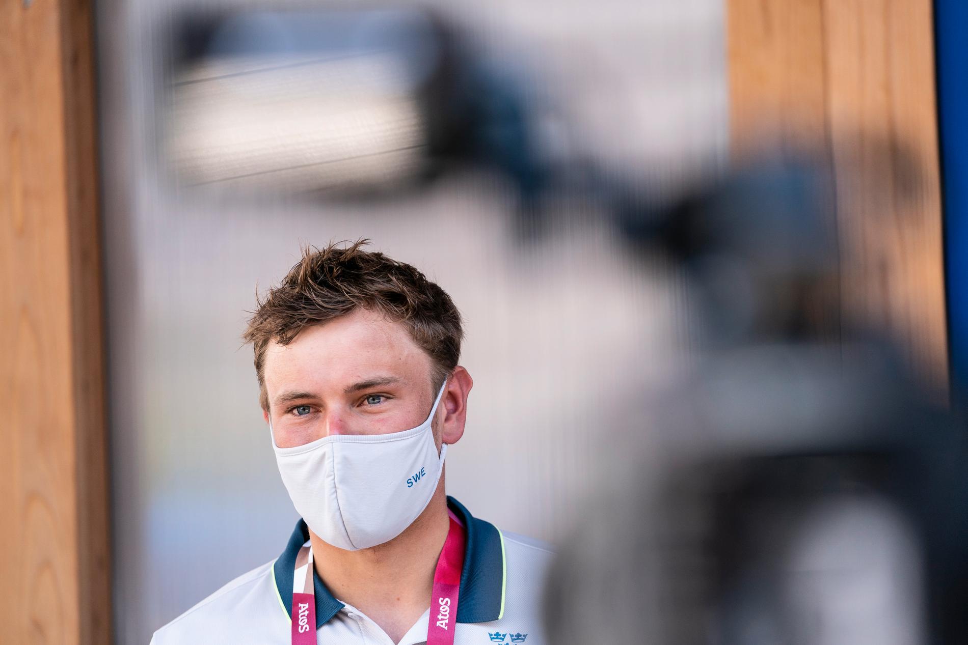 Erik Holmer, kanotslalom, i OS-byn i Tokyo.