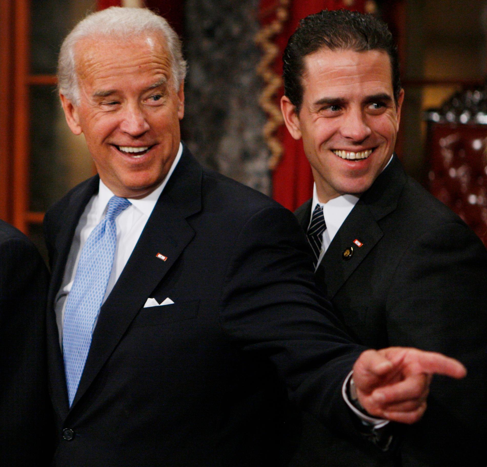 Joe Biden med sonen Hunter.