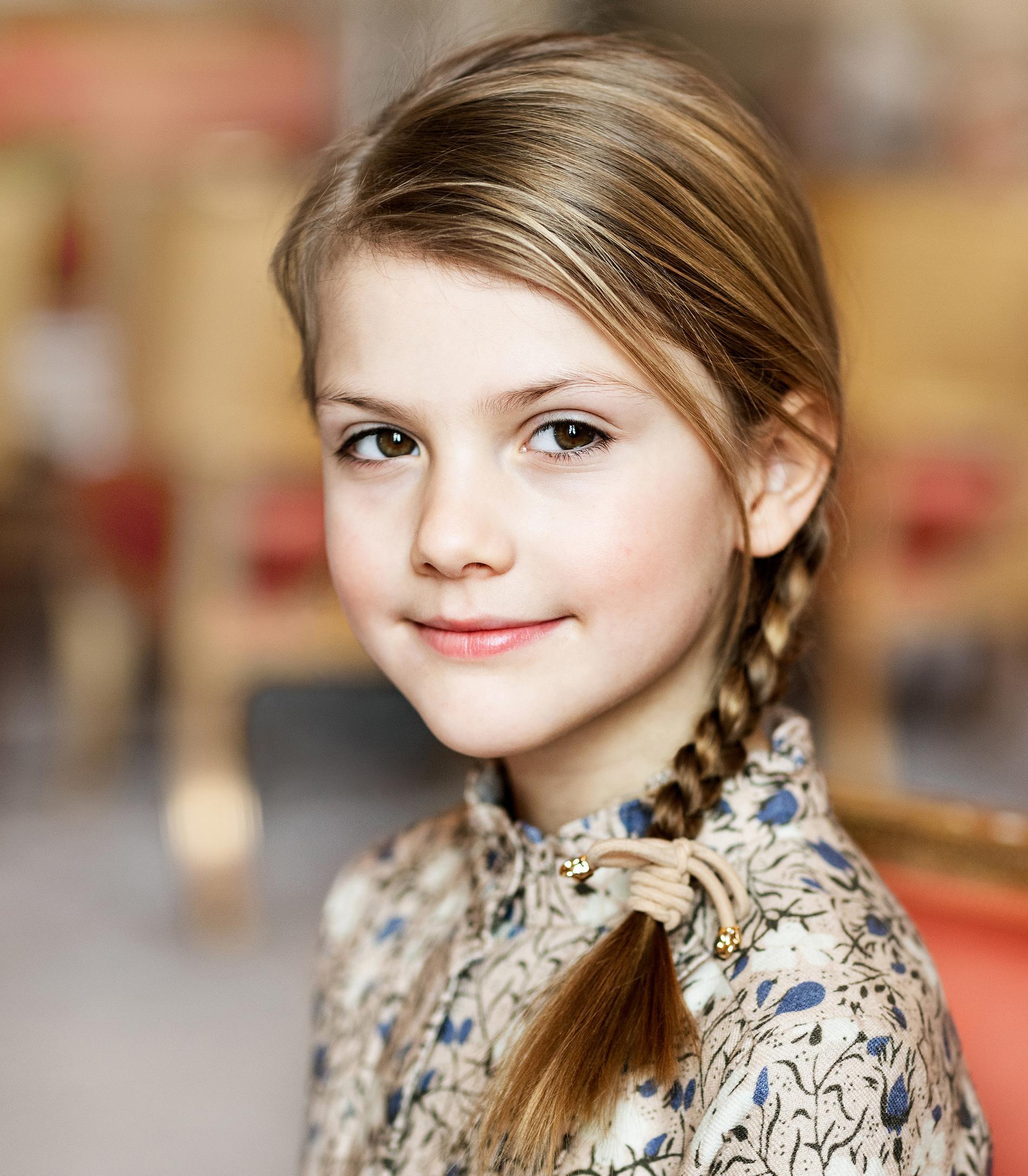 Prinsessan Estelle på sin åttaårsdag.