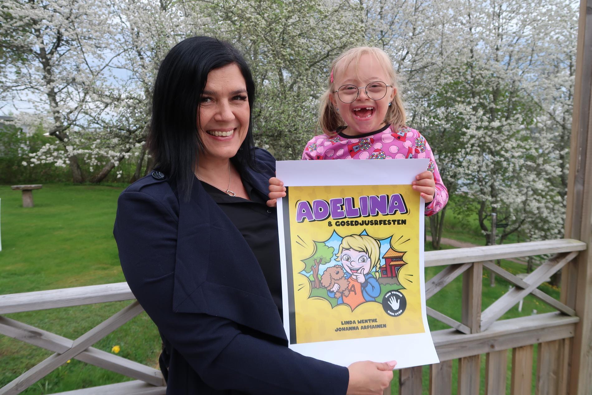 Linda och Adelina har släppt en bok som är inspirerad av Adelina.
