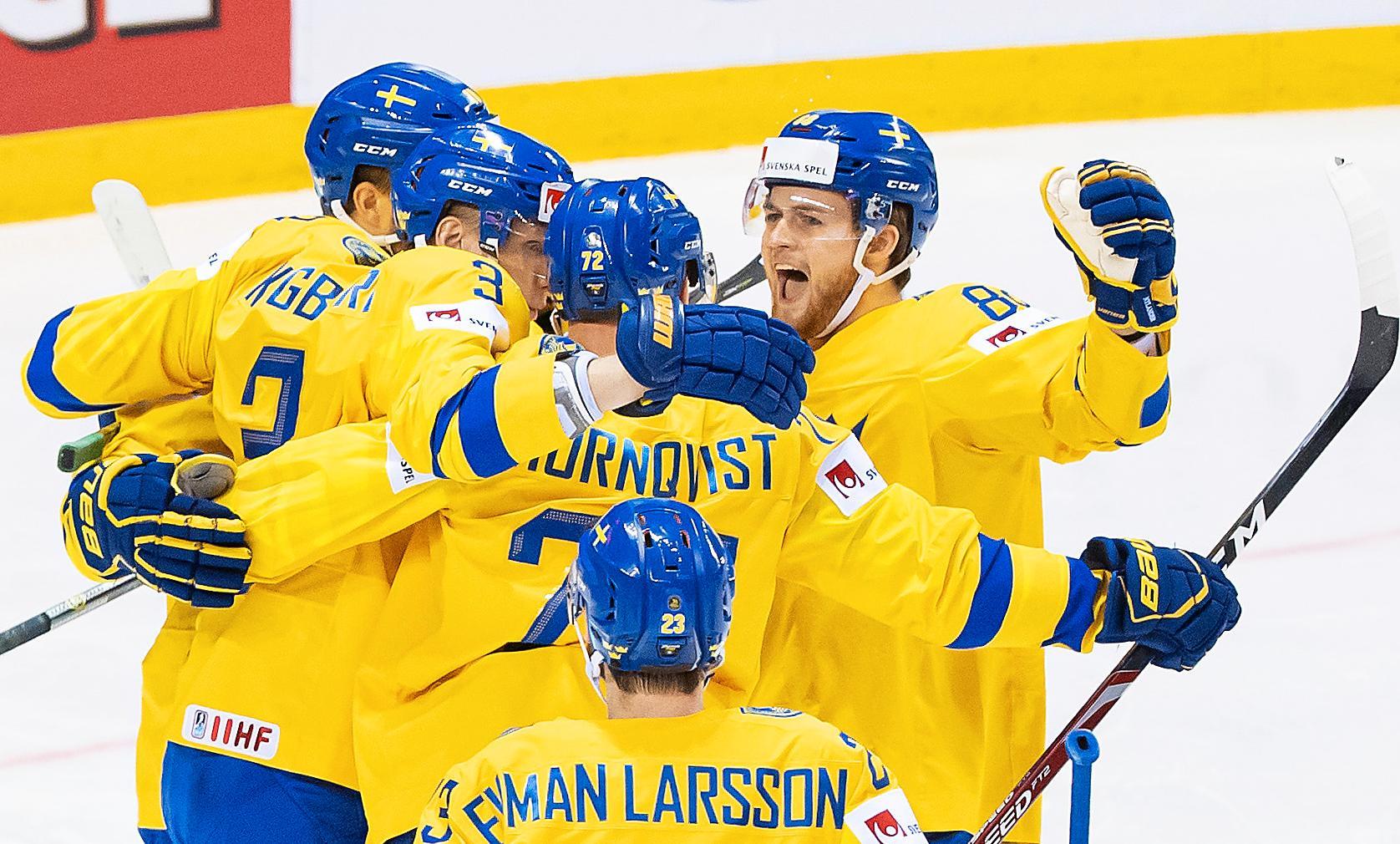 Bild från Sveriges kvartsfinal mot Finland i VM 2019.