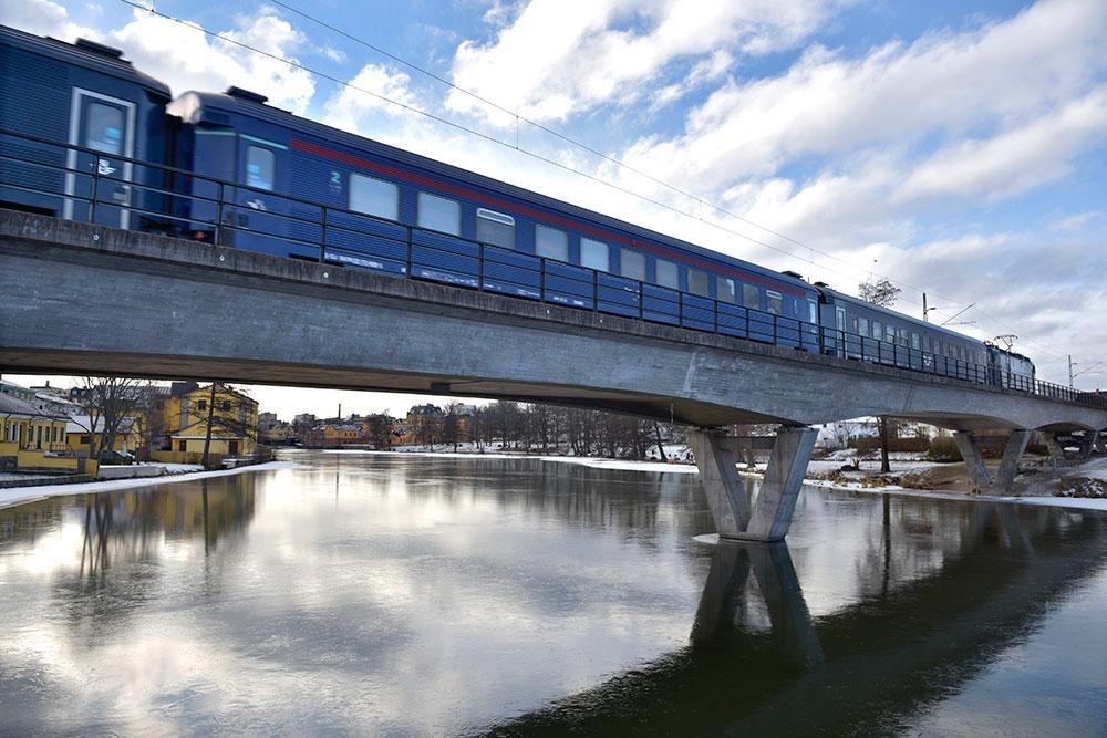 Satsning på kollektivtrafik och på järnvägen. Bild från Eskilstuna 2017.