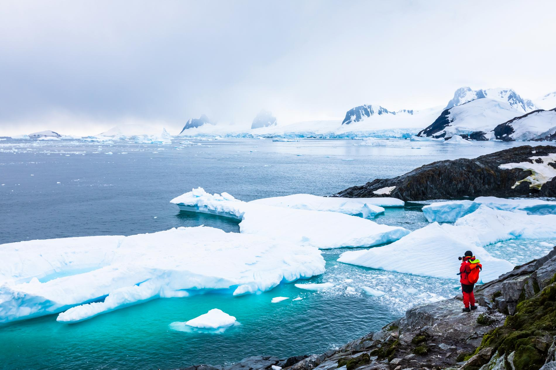 Joakim Laggars slutdestination är Antarktiska halvön.