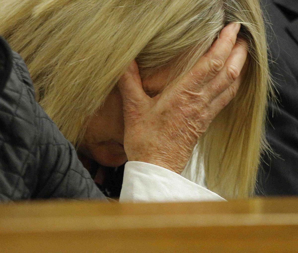 June Steenkamp i rätten idag.