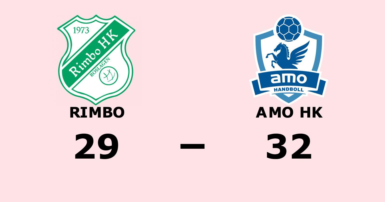 Rimbo föll hemma mot Amo HK