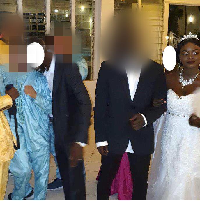 Två av de åtalade för mordet på Ndella Jack var best men på hennes och makens bröllop i Gambia två veckor före attacken.