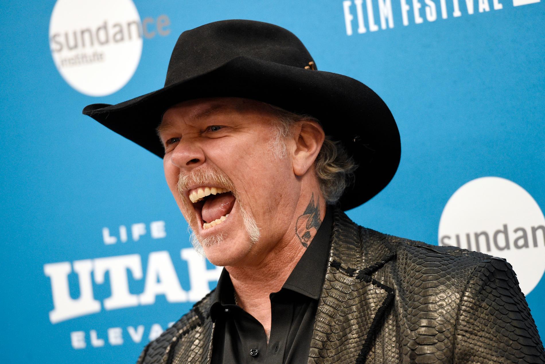 James Hetfield, sångare i Metallica, är inte jättesugen på att vaccinera sig. Arkivbild.