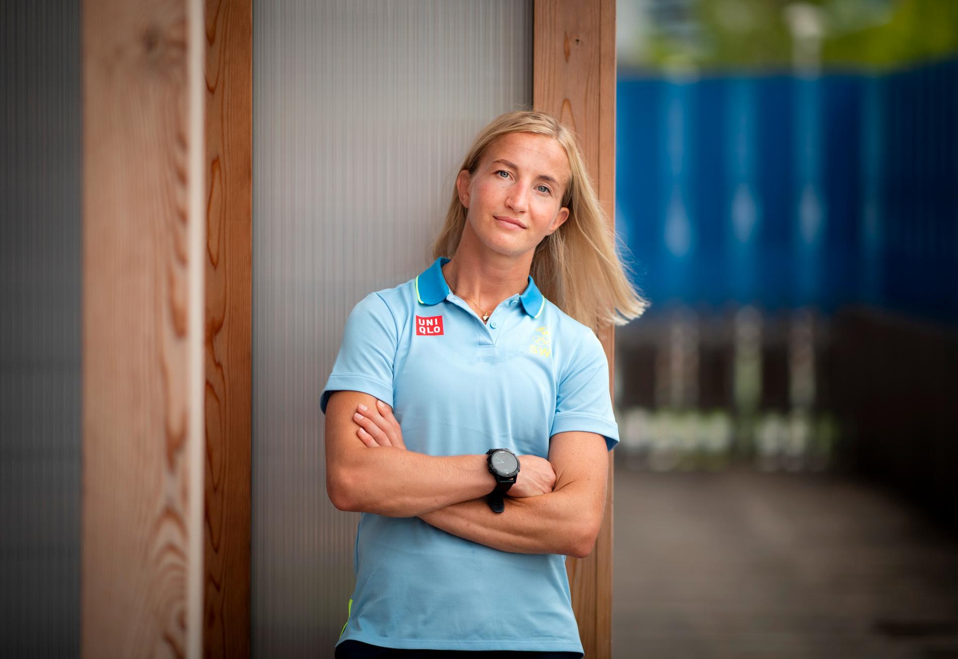 Sofia Mattsson under OS i Tokyo.