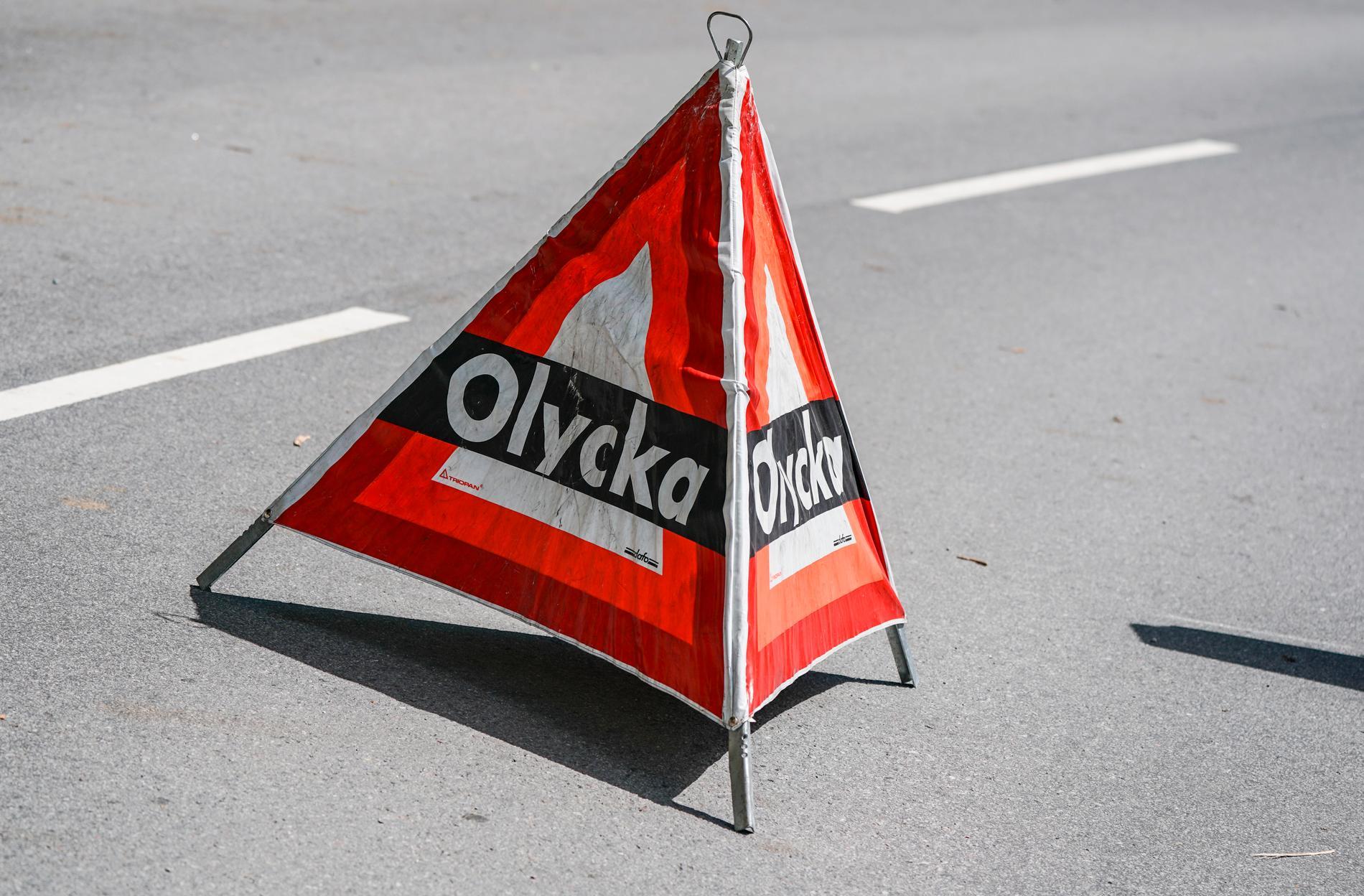 Vägen fick stängas ned ett tag efter olyckan. Arkivbild.