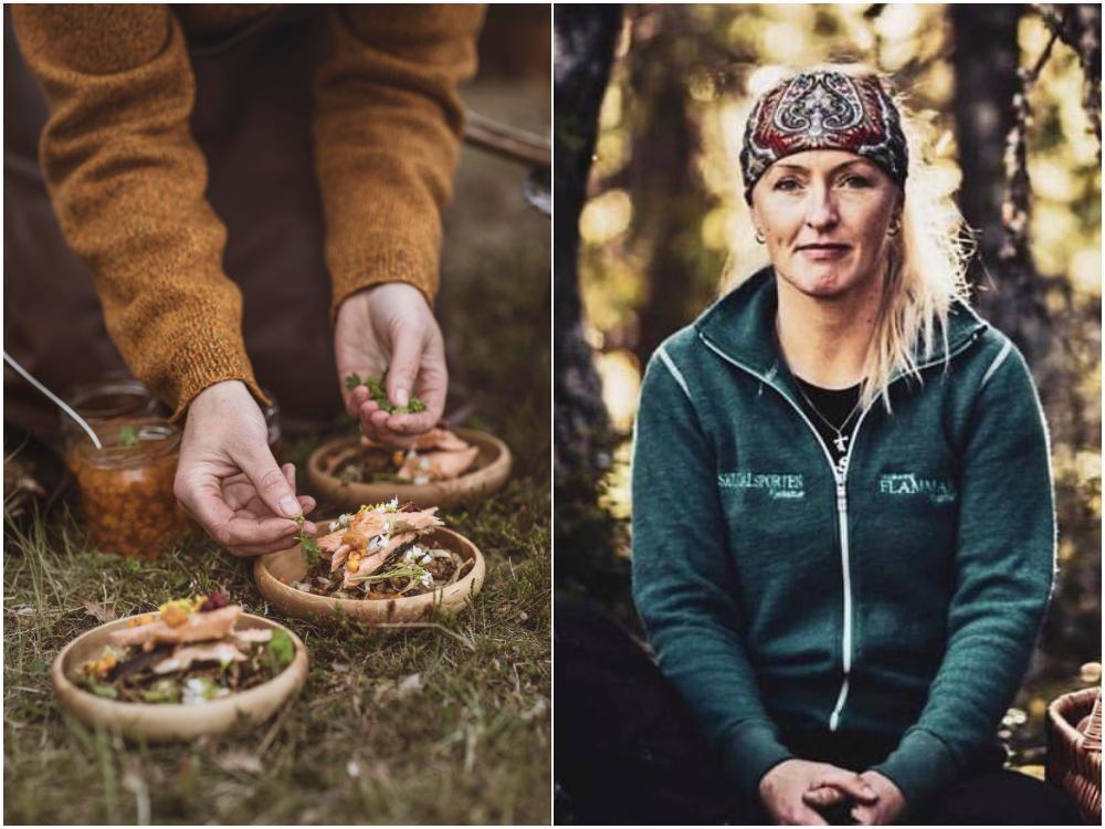 Lena Flaten är en riktigt skogsmulle och kock på Flammans Skafferi i Storlien.