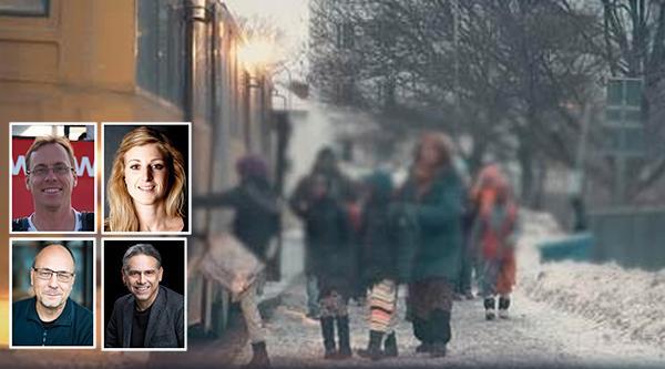 Ulf Gustafsson, Emilia Ericsson, Patrik Lindefors och Christer Sturmark från Humanisterna tycker att de religiösa friskolorna går emot Barnkonventionen.