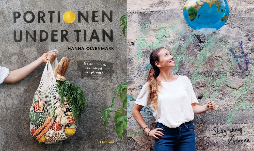 Hanna Olvenmarks nya bok Portionen under tian.