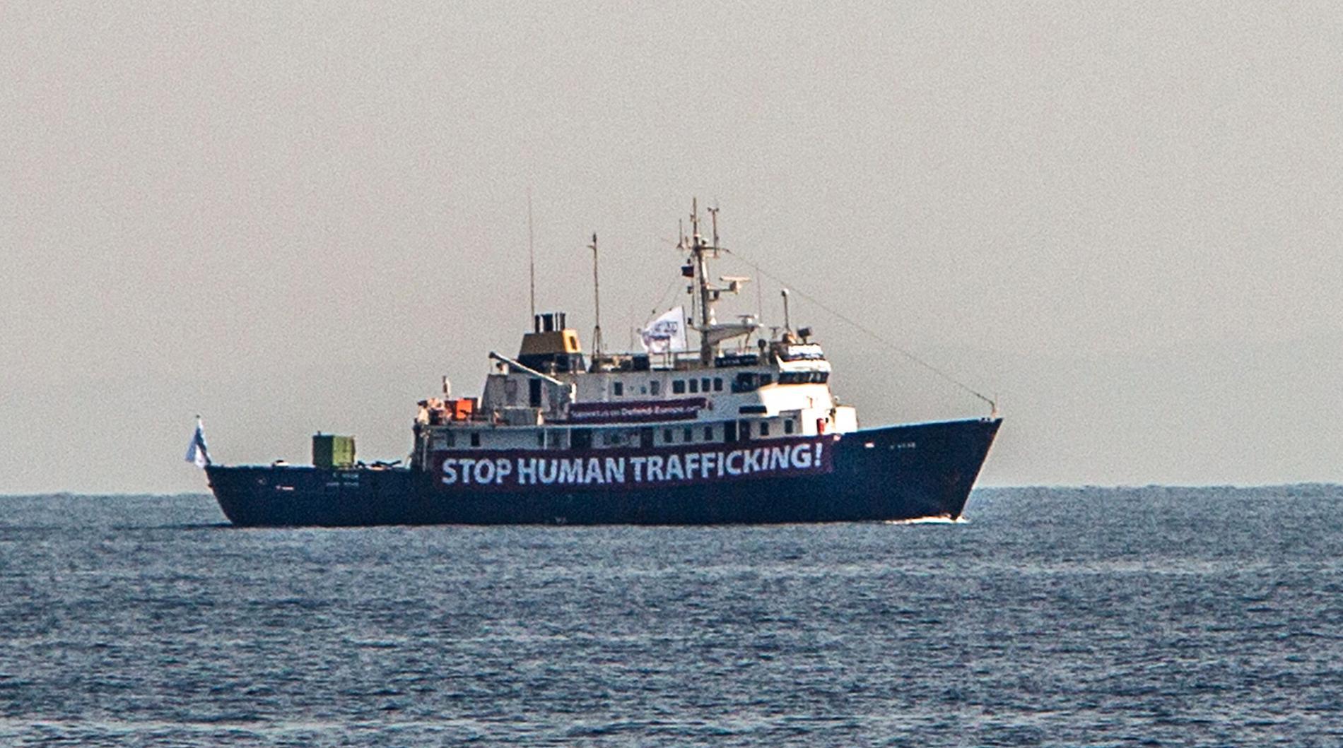 Fartyget C-star strax utanför den libyska kusten.