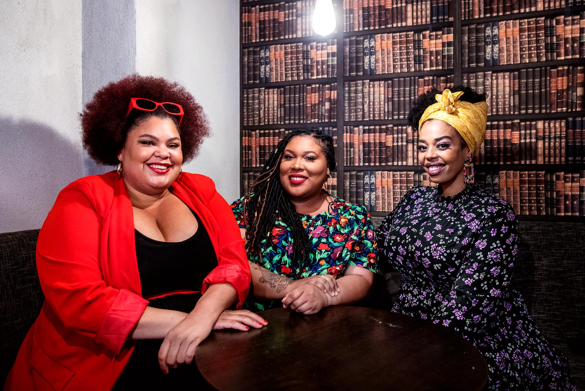 Loulou Lamotte, Ashley Haynes och Dinah Yonas Manna i The Mamas