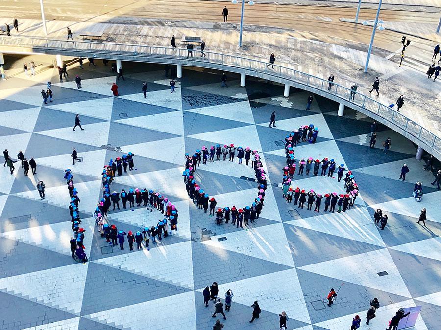 16:06-rörelsens manifestation på Sergels torg i dag.