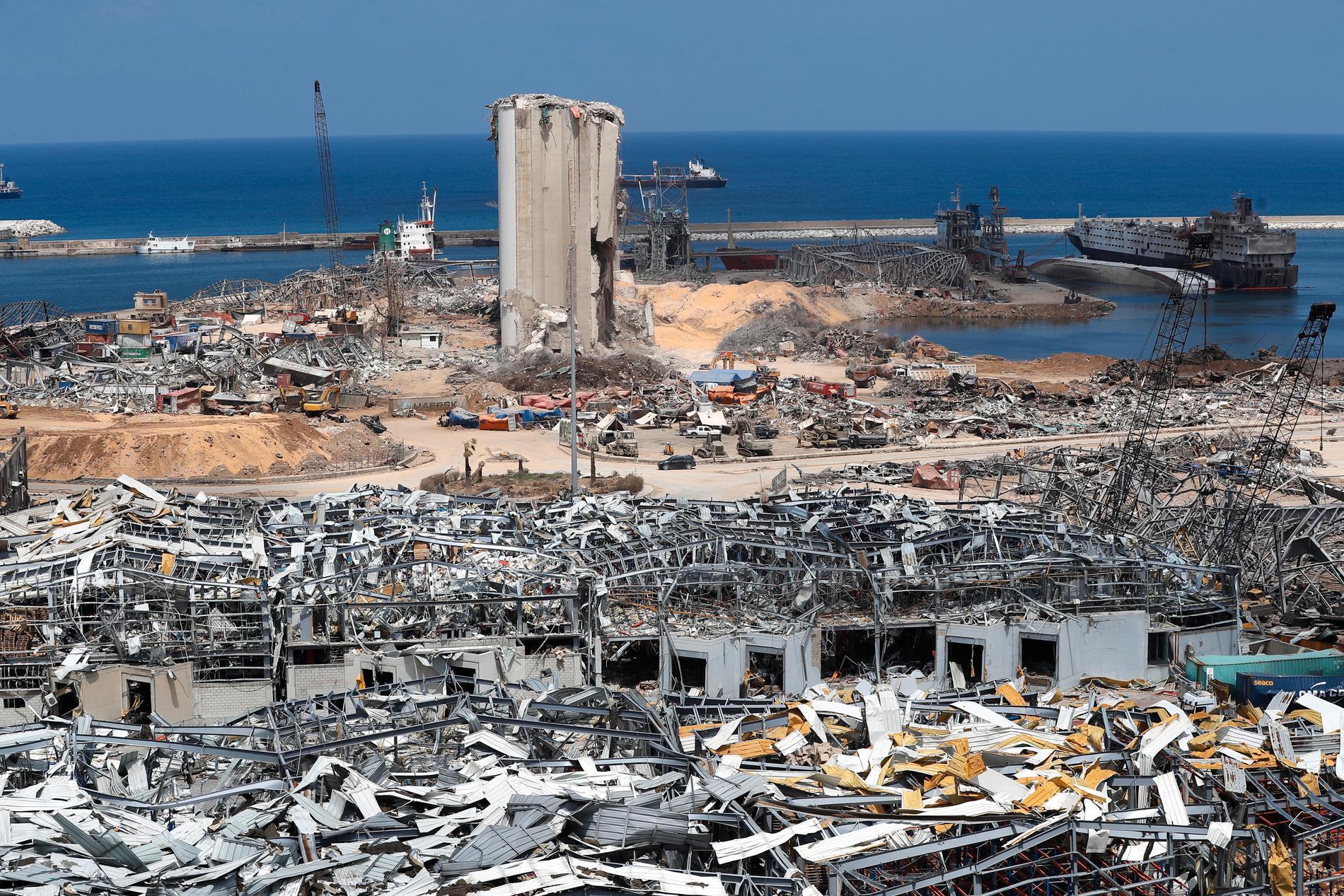 Stora delar av Medelhavspärlan Libanon förstördes i den våldsamma explosionen den 4 augusti förra året. Arkivbild.