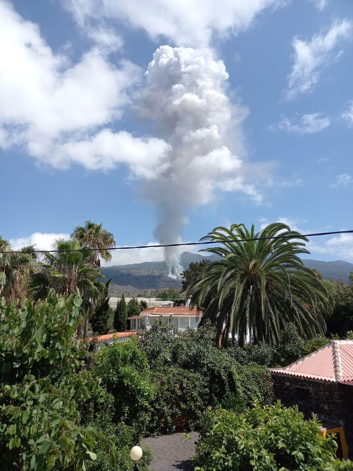 Eva-Lisas bild när vulkanutbrottet startade.