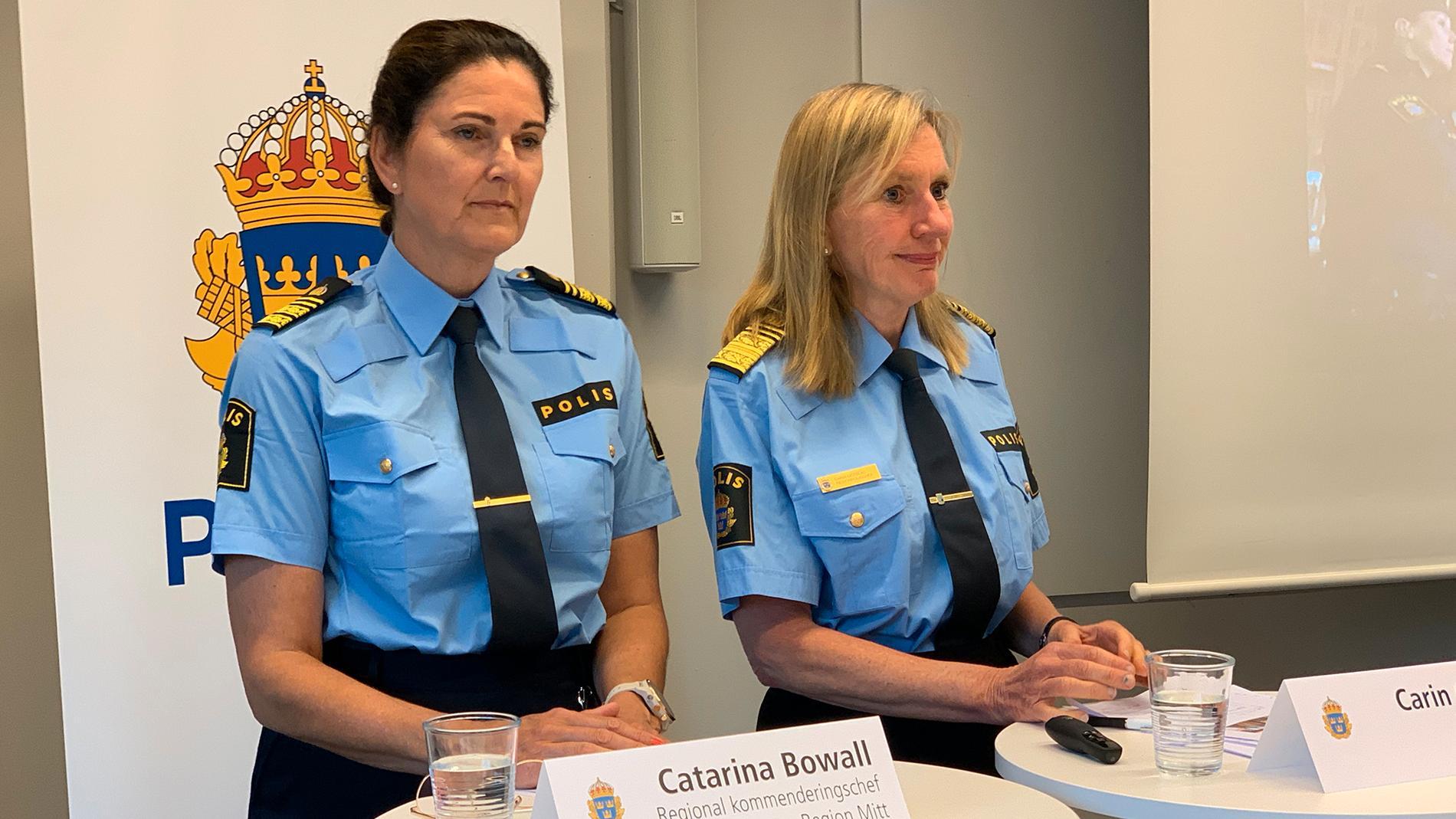 Catarina Bowall, regional kommenderingschef och Carin Götblad, regionpolischef region mitt.