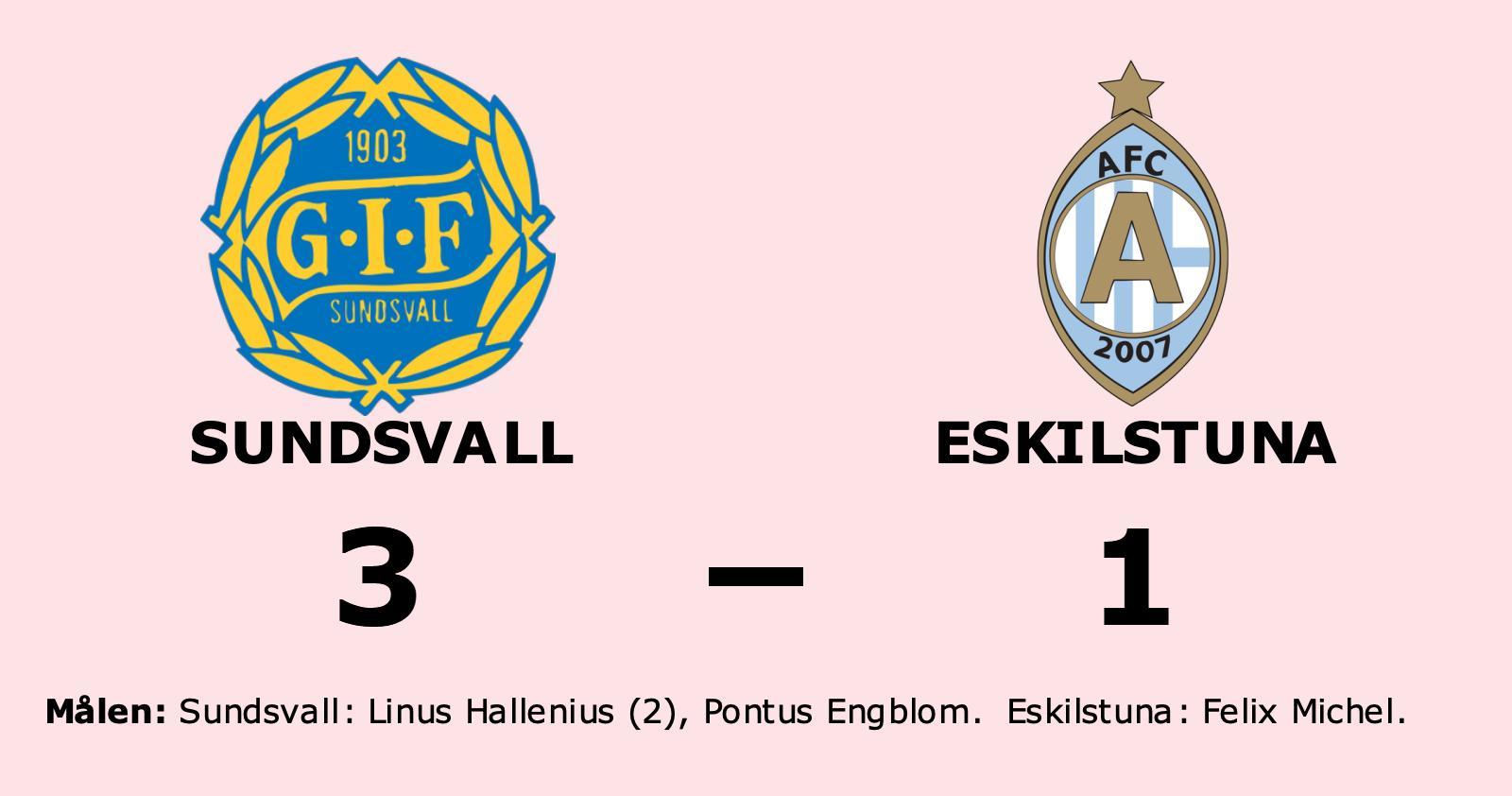 Eskilstuna föll mot Sundsvall på bortaplan