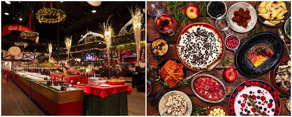 På Gröna Lund kan du äta julbord med vilt och utmana vänner och familj på femkamp.