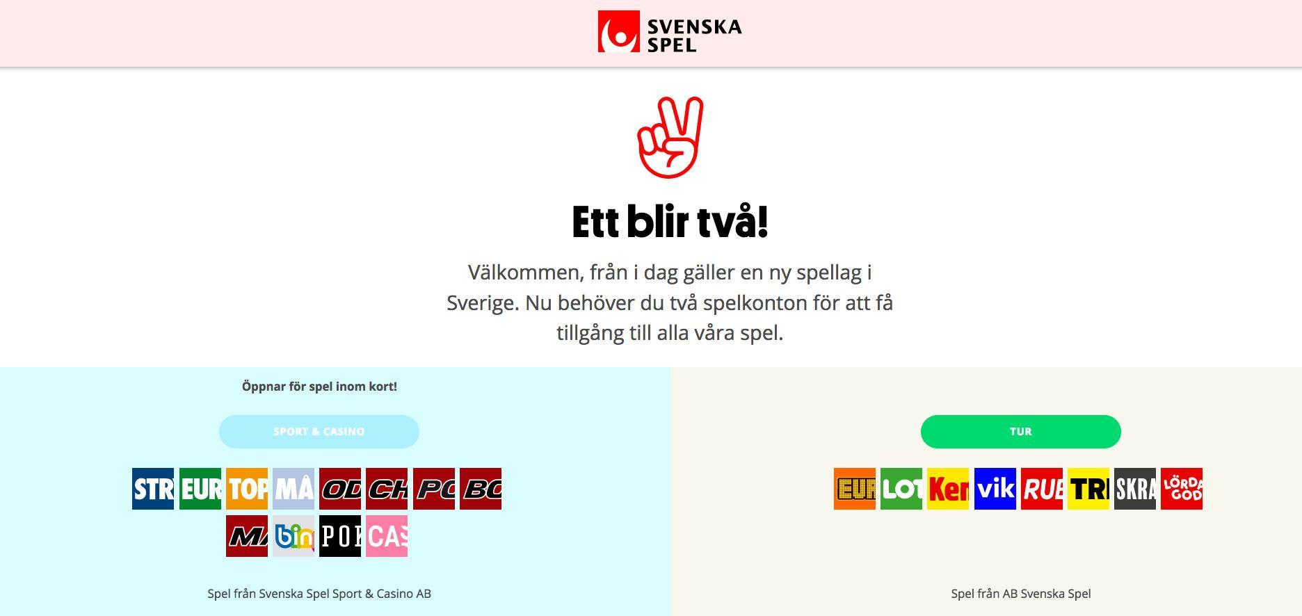 Skärmdump från Svenska Spels hemsida.