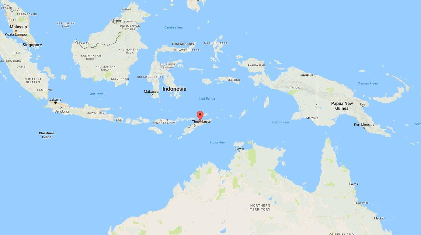 Här ligger Östtimor.