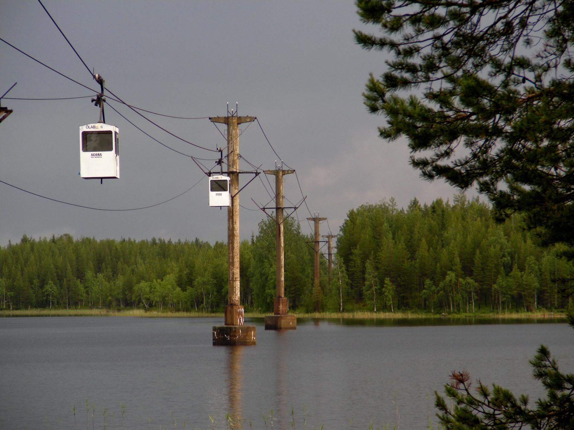 Världens längsta linbana i Norsjö är till salu. Arkivbild