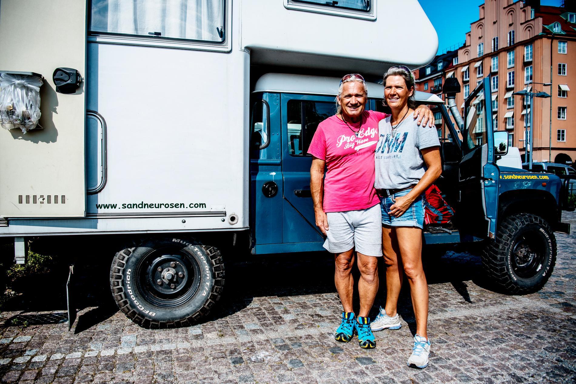 Uwe Scharf och Katrin Schacht älskar naturen i Sverige.