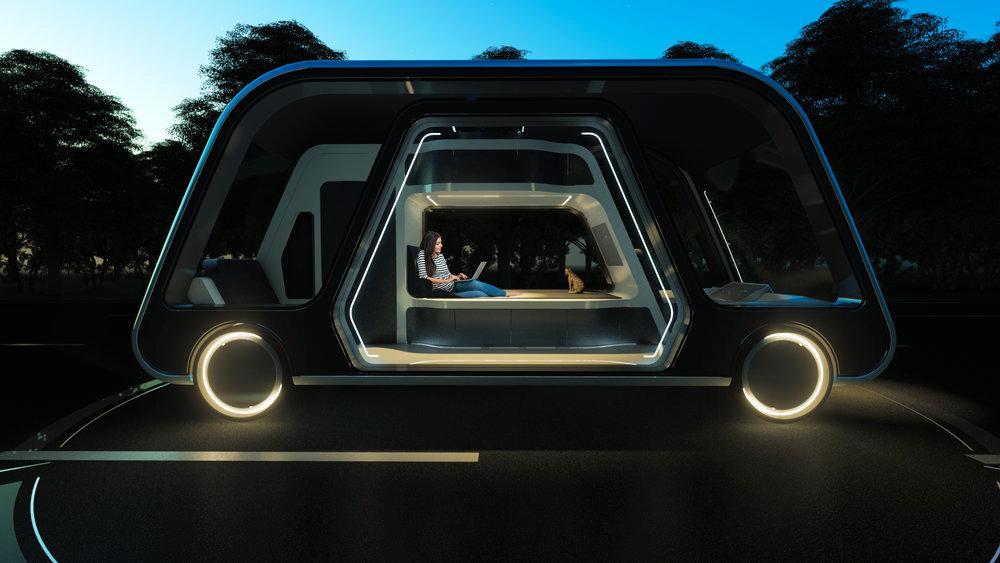 Självkörande hotellrum kan lösa framtidens resande.