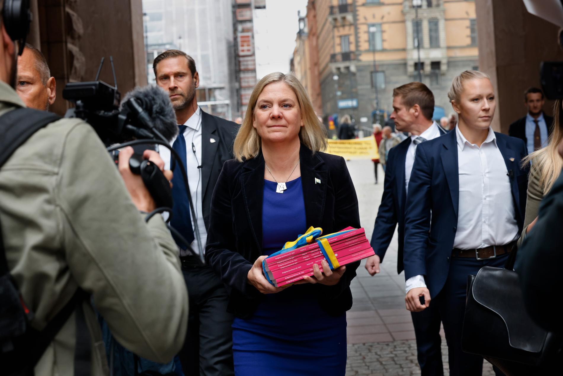 Magdalena Andersson levererade regeringens höstbudget under måndagen.
