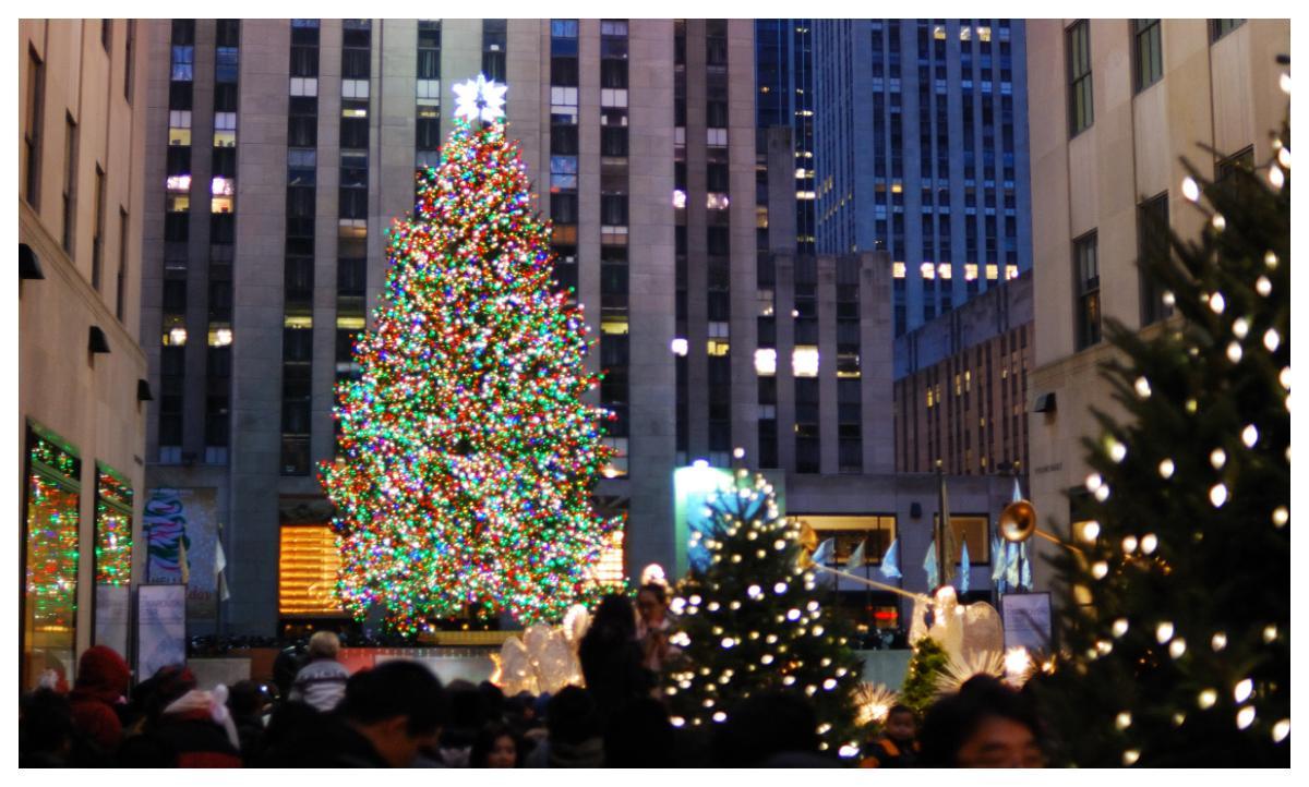 I New York finns en enormt vacker julgran