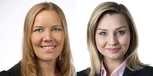 Emma Henriksson (KD) och Ebba Busch Thor (KD).