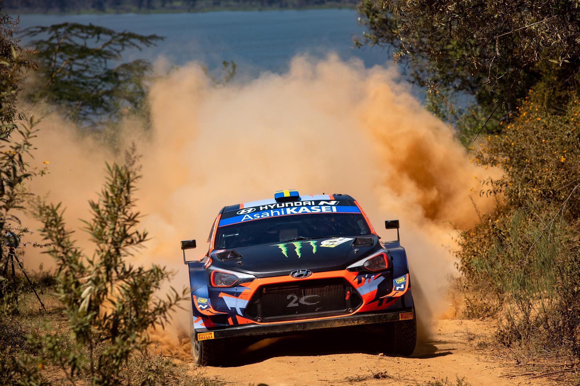 Oliver Solberg kör för världsmästarteamet Hyundai