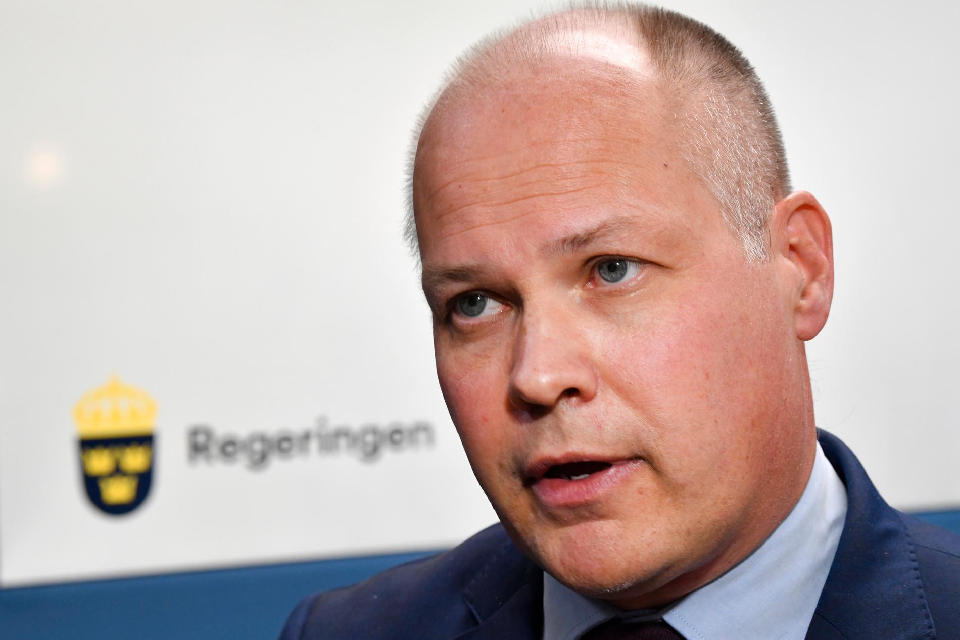 """Justitie- och migrationsminister Morgan Johansson (S) vägrade debattera i SVT:s """"Morgonstudion""""."""