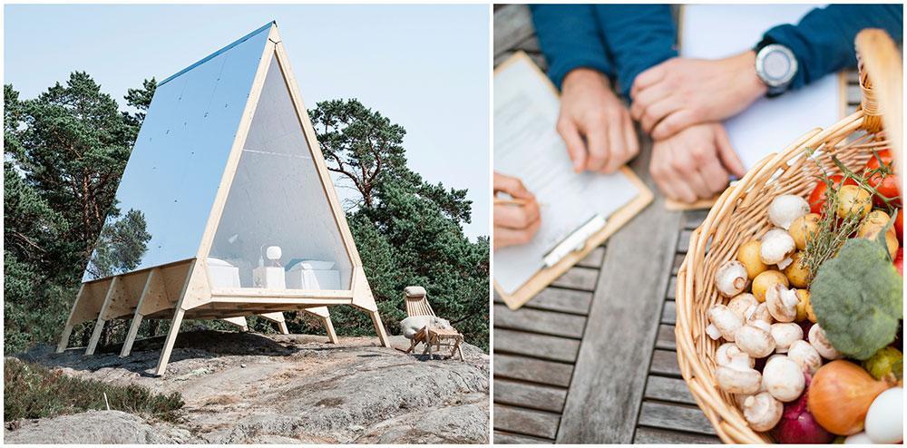 I projektet Zero Vacation på Lidö kan du campa i skärgården på ett fossilfritt sätt.