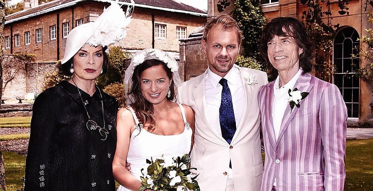 Familjen Jagger firar bröllop.